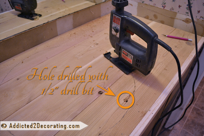 Step by step instructions for making a wood countertop for a bathroom