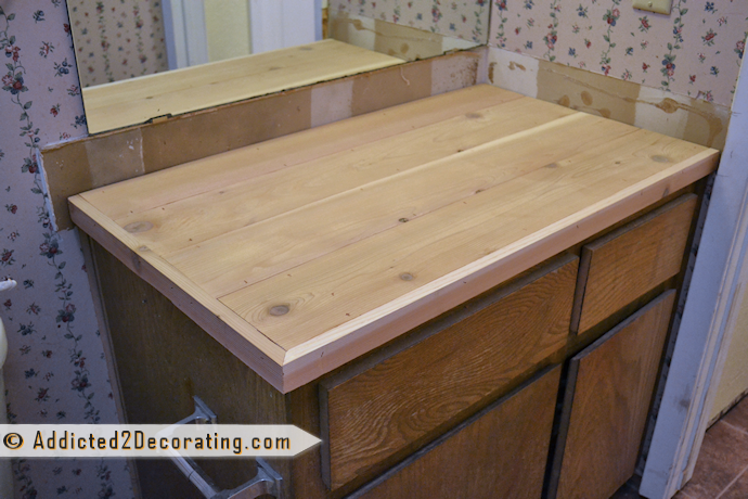 Make a bathroom countertop for under $40