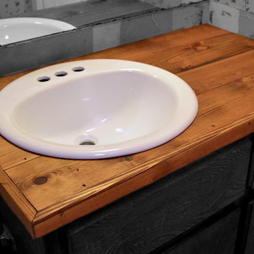 Wood bathroom countertop for under $35