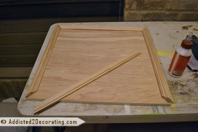 DIY cabinet doors - adding moulding trim to cabinet doors