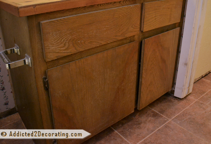 Bathroom Vanity Doors bathroom makeover day 3 – how to make cabinet doors (without using