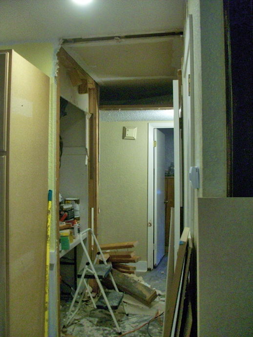 hallway makeover during