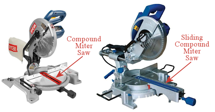 DIY tools - compound miter saw vs. sliding compound miter saw
