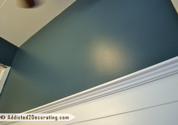 Bathroom Makeover Day 10: The Wall Color. Is It Navy Blue? Forest ...