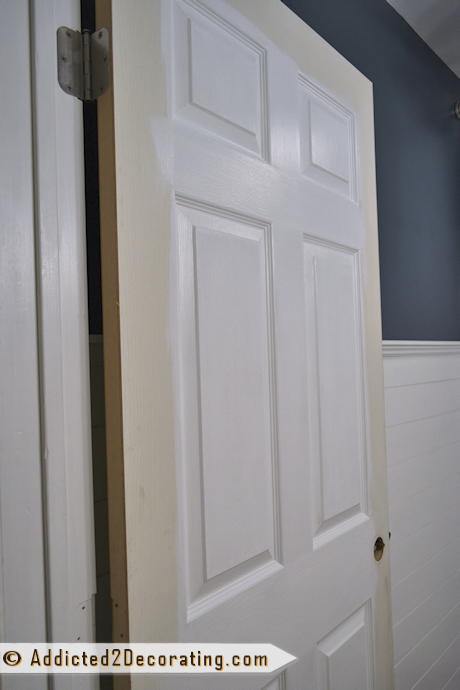 Bathroom makeover day 15 - painted door