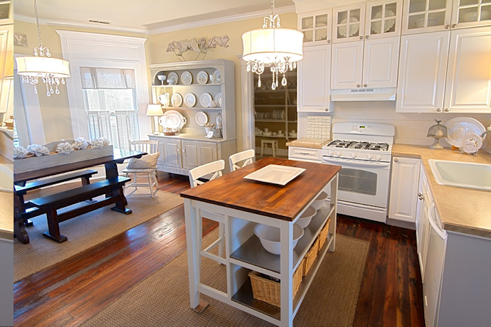 beautiful white farmhouse kitchen from thistlewood farms blog