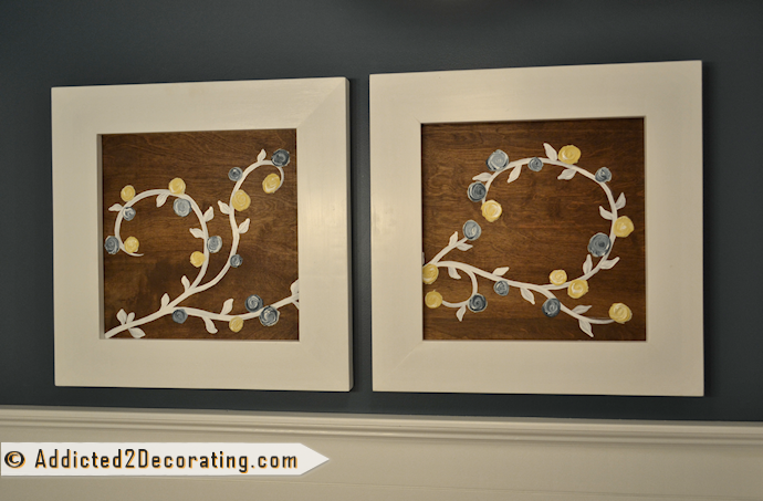 Make artwork with dimensional flowers made from drywall mud
