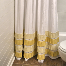 Shower Curtain With Pleated Accents - thumb