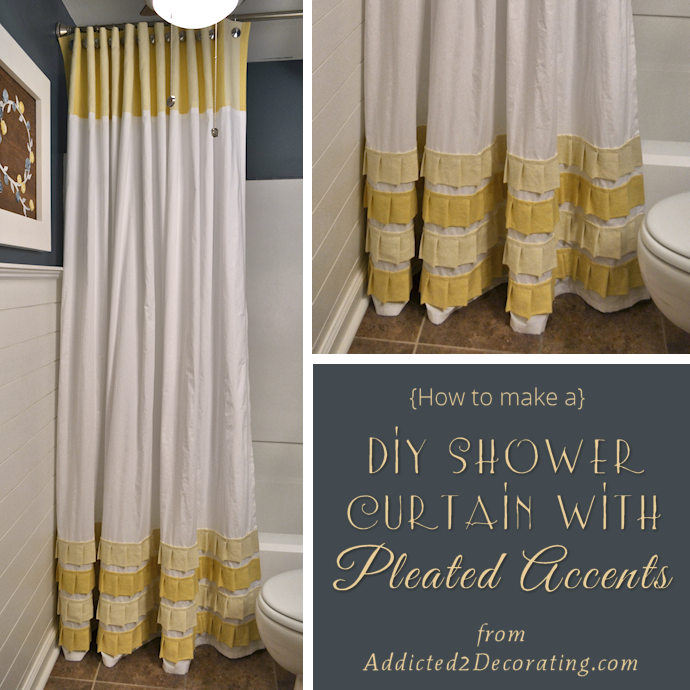 Bathroom Makeover Day 19 20 How To Make An Extra Long Shower Curtain With Pleated Ruffle Accents