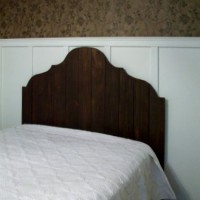 Headboard made from fence pickets for under $50