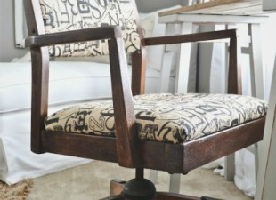 Vintage Office Chair Makeover from Liz Marie Blog