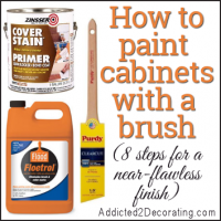 How to paint cabinets with a paint brush (8 steps for a near-flawless finish)