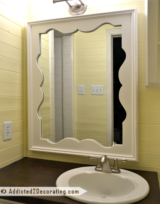 DIY Decorative Mirror With Scalloped Frame, from Addicted2Decorating.com