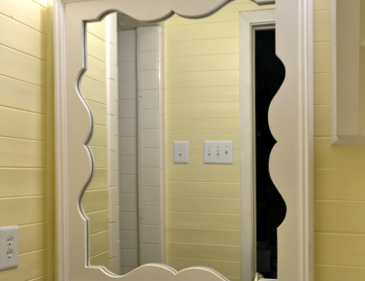 Decorative Mirror With Scalloped Frame