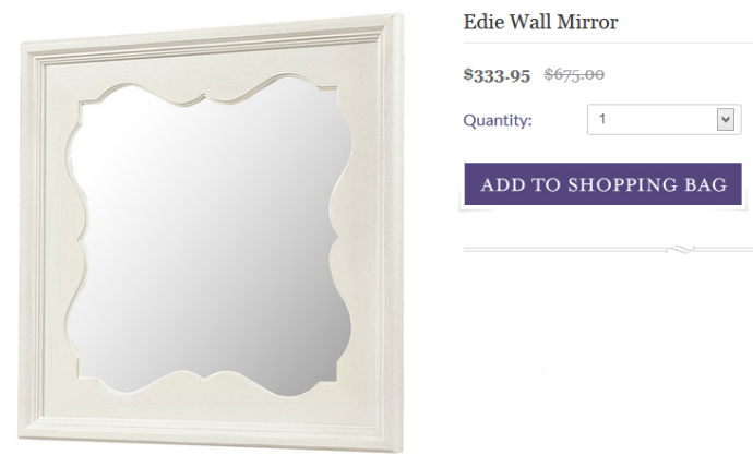Scalloped mirror from Joss and Main - the inspiration for my DIY mirror