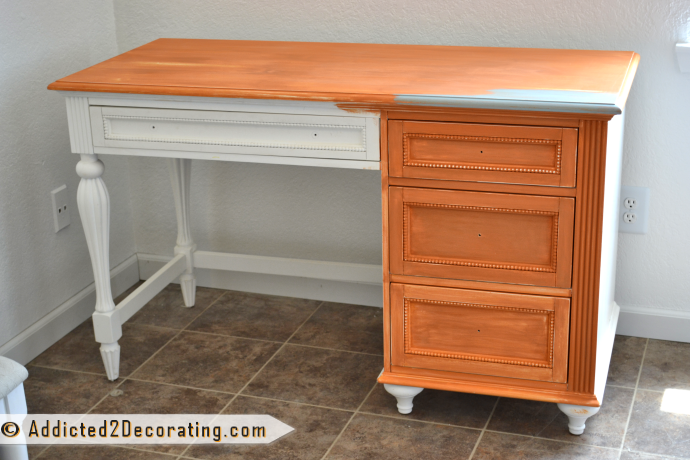 Annie Sloan Chalk Paint Barcelona on a desk