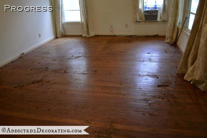 Original Hardwood Floors In Living Room After Removing Carpet