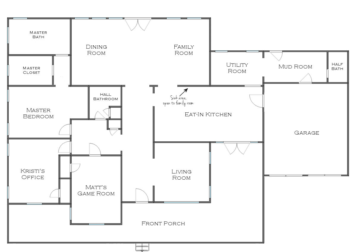 The finalized house floor plan plus some random plans and for What size dining table for 10x10 room