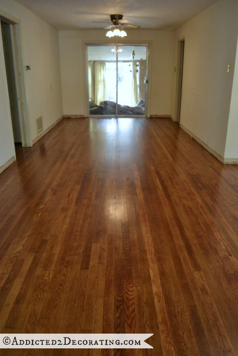 My diy refinished hardwood floors are finished for Dining room flooring