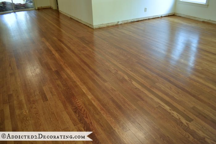 DIY refinished hardwood floors - original 65-year-old oak floors were hidden under carpet for 30+ years