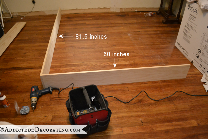 DIY Stained Wood Raised Platform Bed Frame – Part 1