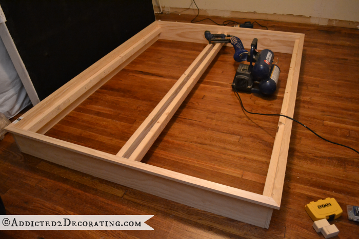 DIY wood bed frame 10