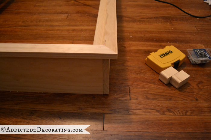 DIY wood bed frame 11