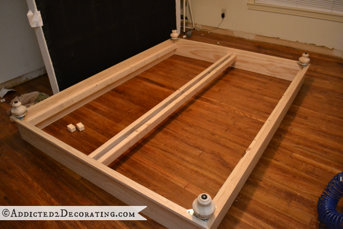DIY wood bed frame 14