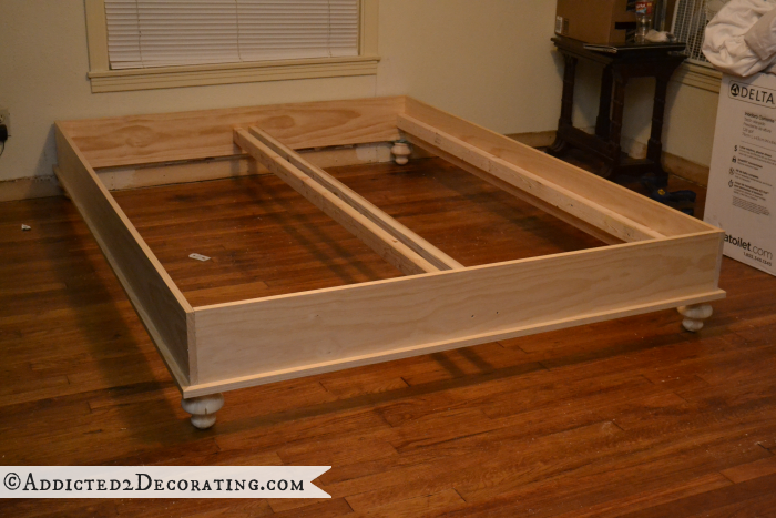 DIY wood bed frame 15