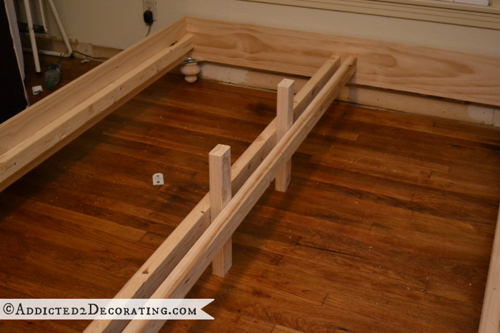 DIY wood bed frame 17