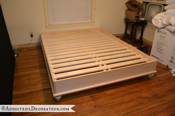 DIY wood bed frame 18