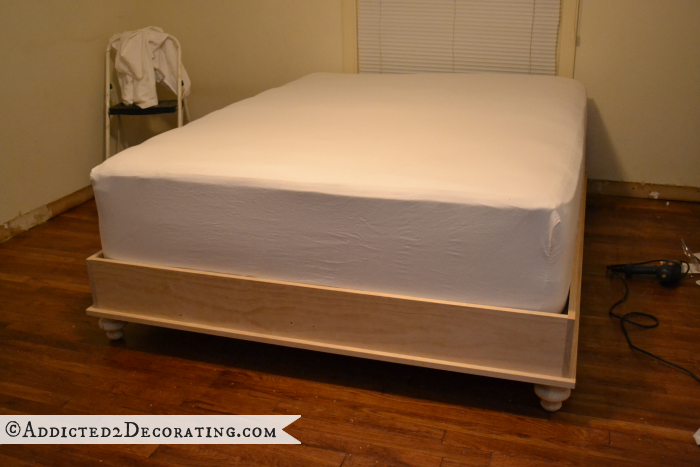 DIY wood bed frame 19