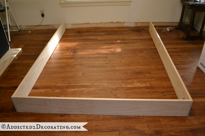 DIY wood bed frame 3