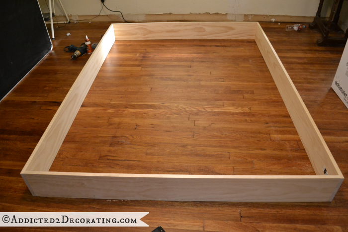 DIY wood bed frame 4