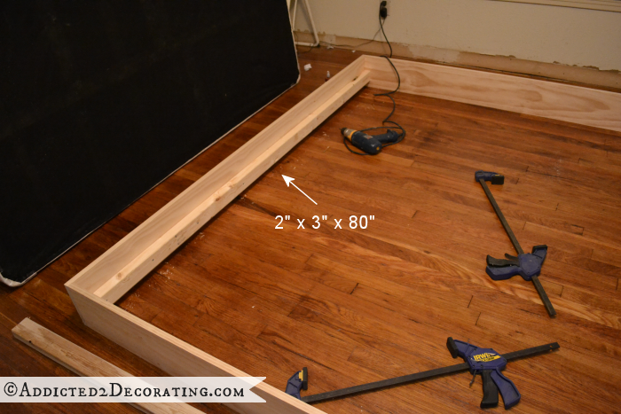 DIY wood bed frame 5