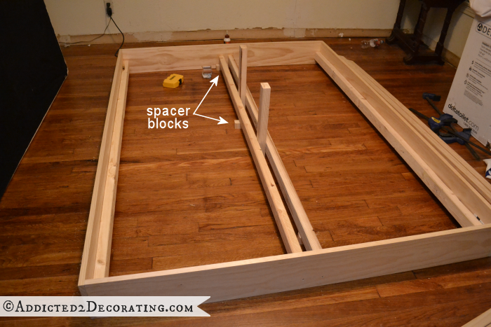 DIY wood bed frame 6