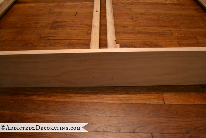 DIY wood bed frame 7