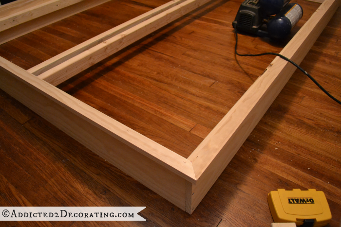 DIY wood bed frame 9