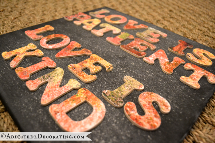 Fall leaves typography artwork