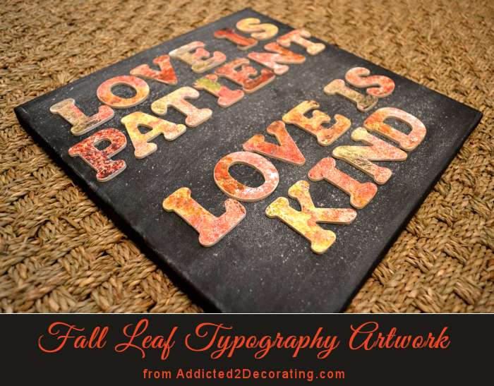 Fall leaves typography artwork with #CanonPIXMA
