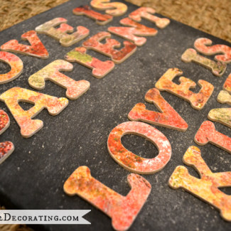 Dimensional Fall Leave Typography Artwork With #CanonPIXMA