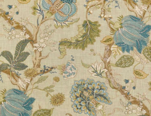 Drapery fabric, P. Kaufmann Florabunda Sea Glass