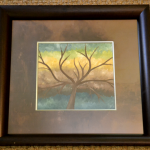 Easy Acrylic Tree Artwork With Layered Colors