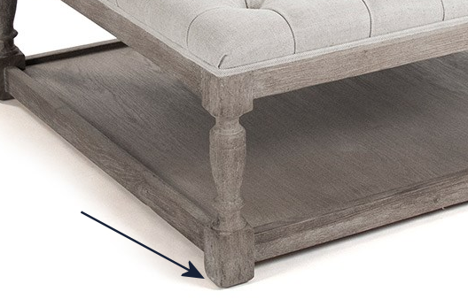 coffee table base for ottoman - 2
