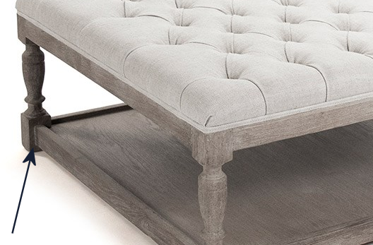 coffee table base for ottoman - 6
