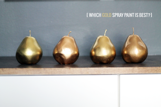 Gold spray paint comparison from Chris Loves Julia