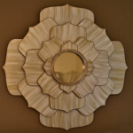 DIY 40-Inch Metallic Lotus Flower Mirror
