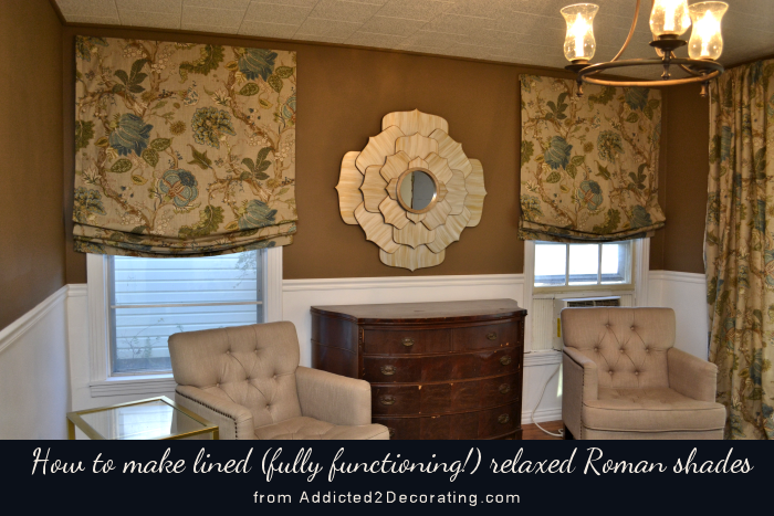 Diy Tutorial How To Make Lined Relaxed Roman Shades