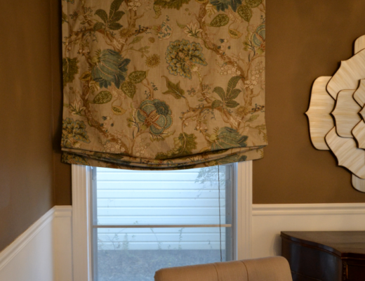 relaxed roman shades for living room