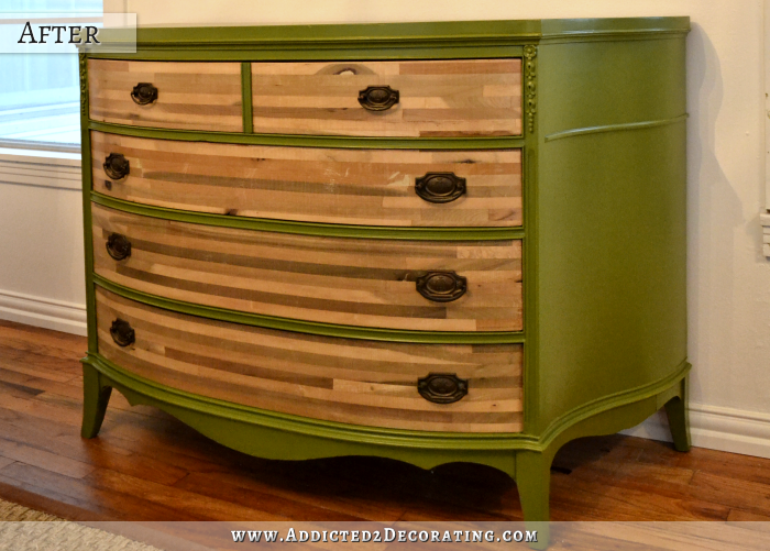 Credenza makeover - after
